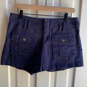 Boston Proper Navy Flap Pocket Shorts